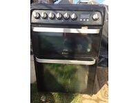 Hotpoint Gas cooker Ultima with glass lid HUD61K