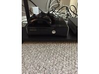 XBOX 360 slim 300g inc steering wheel & pedals 5 wireless controllers 15 games