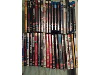 37 dvds and blue ray dvds