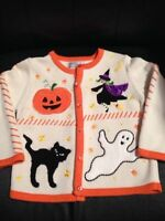 Veste Halloween 4T - Blanc & Orange