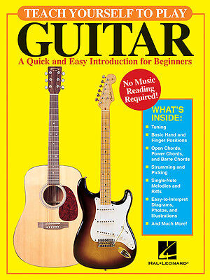Teach Yourself to Play Guitar Beginner Lessons Tab Hal Leonard Book NEW on Rummage