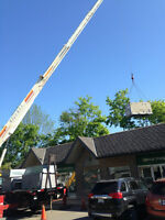 CRANE SERVICE & FLAT ROOFING