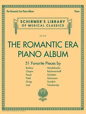 The Romantic Era Piano Album Sheet Music Schirmer's Library of Musical 050600421