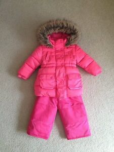 Toddler pink snow suit coat / pants Size 1