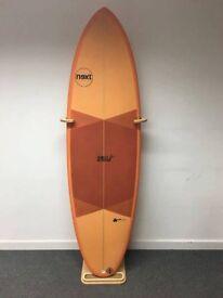 NEXT 6'4 EASY RIDER PU SURFBOARD - ORANGE