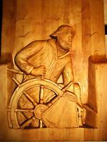 sculpture sculptur capitaine de bateau