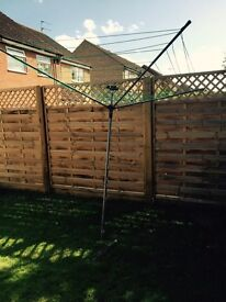 Large Rotary Washing Line with ground stake