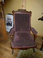 Antique Eastlake Spring Rocker
