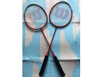 Two Wilson badminton rackets, immaculate, take both at only £25