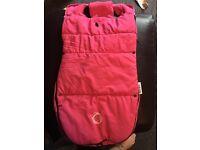 Hot pink bugaboo Velcro footmuff