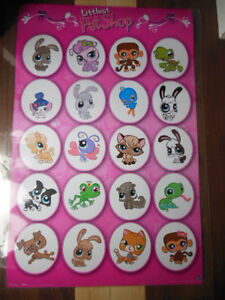 Littlest Pet shop teenist tiniest toys and laminated poster London Ontario image 4