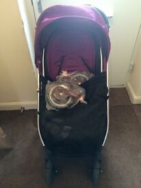 Oyster pushchair with car seat and adapters
