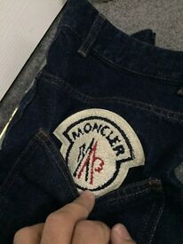 Brand new men's moncler jeans Euro 46 size 100% original