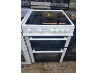ELECTRA 60CM CEROMIC TOP ELECTRIC COOKER IN WHITE