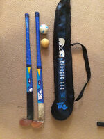 2 Field Hockey Sticks, 2 Balls and Carrying Bag for $20.00