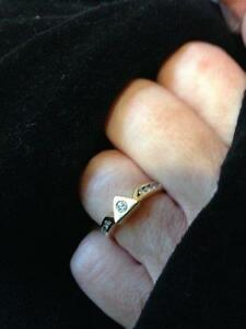 DIAMOND RING SOLITAIRE-1.05 ct-14KT-with matching Wedding Band Peterborough Peterborough Area image 3