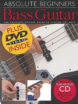 Absolute Beginners: Bass Guitar - Book CD DVD Value Pack NEW 014001026 on Rummage