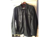Gents Black Leather Jacket