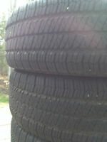 255/75 R17 Goodyear Wrangler all season tires for Jeep