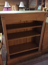 Solid rustic pine bookcase