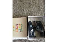 Brand new Clarks infant boy shoes 2 1/2F