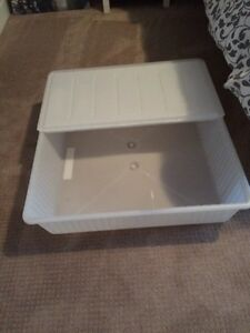 IKEA under the bed storage container with lid