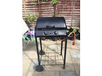 Gas BBQ 2 burner grill with warm grill above SOLD