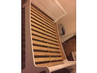 Solid pine sleigh bed