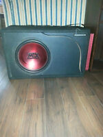"10"" mtx red thunder subwoofer with matching ported box"