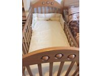 Mothercare baby cot and mattress