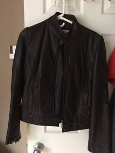 Calvin Klein women's leather jacket