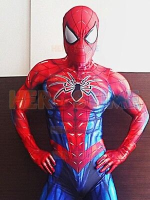 2018 Newest Spiderman Costume Spider-Man Cosplay Suit For Adult/Kids