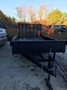 1 year old Tandem Axle Utility Trailer  for Sale Windsor Region Ontario image 1