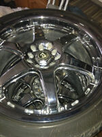 "Fusion Z rated low pro.tires & high end 18"" rims universl 5 bolt"