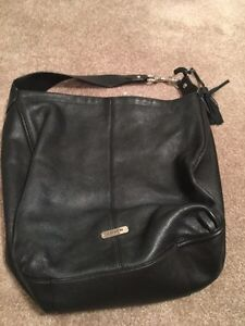 Coach - real black leather large bag