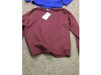 Sweat shirts , jumpers , bankrupt stock job lot sale