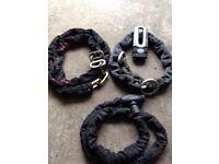 Three motorbike chains £20
