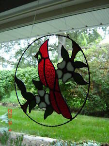 Stained Glass Red Cardinal ring Kingston Kingston Area image 2