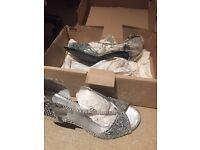 Ladies Silver Dress Heels UK Size 6
