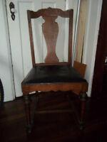 Oak occasional chair, circa 1920