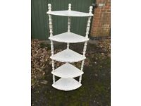 Corner shelving unit upcycled shabby chic style solid furniture