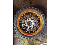 Front and back pit bike wheel