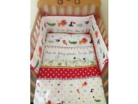 Brand New 3 pcs Baby Bedding Set 100/135 cm cot bed cover Bumper