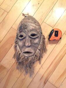 Antique African masks