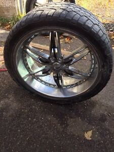 24 inch FOOSE wheels and tires