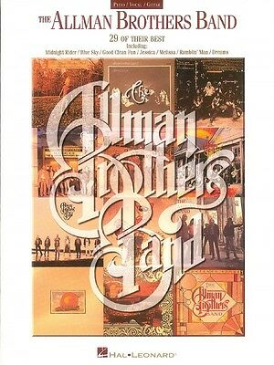 Allman Brothers Band Collection Sheet Music Piano Vocal Guitar Songboo 000306143