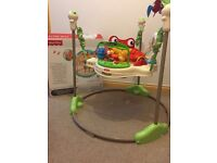 Fisher Price Rainforrest Jumperoo With Original Box Excellent Condition From A Smoke/Pet Free home
