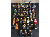 Lego figures x 34, inc, city, chima, Indiana jones