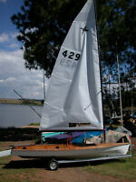 Phantom sailboat with new sail