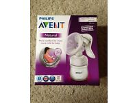 Avent Natural Manual Breast Pump BRAND NEW